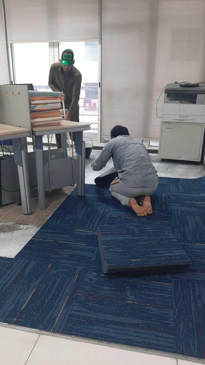 Carpet Tiles Installation at Daniya Property Management